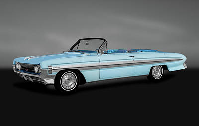 Photograph - 1961 Oldsmobile Starfire Convertible  -  1961oldsstarfireconvertgray184385 by Frank J Benz