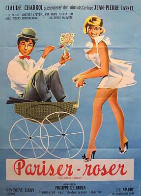 1961 Original Danish Movie Poster, Pariser Roser, The Love Game Original by Unknown