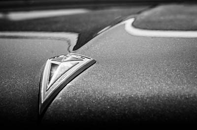 Photograph - 1961 Pontiac Catalina Hood Ornament -376bw by Jill Reger