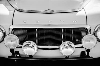 Photograph - 1961 Volvo Pv544 Grille Emblem -1511bw by Jill Reger