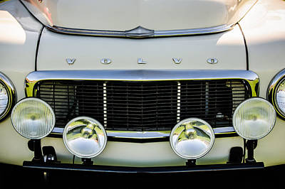 Photograph - 1961 Volvo Pv544 Grille Emblem -1511c by Jill Reger