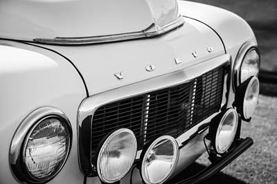 Photograph - 1961 Volvo Pv544 Grille Emblem -1520bw by Jill Reger