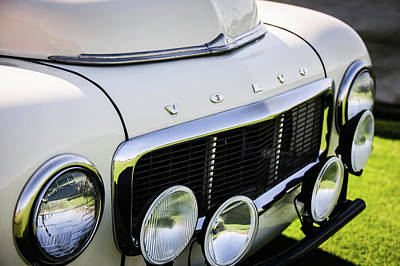 Photograph - 1961 Volvo Pv544 Grille Emblem -1520c by Jill Reger