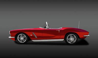 Photograph - 1962 C1 Chevrolet Corvette  -  1962c1vetteconvertiblefa149856 by Frank J Benz