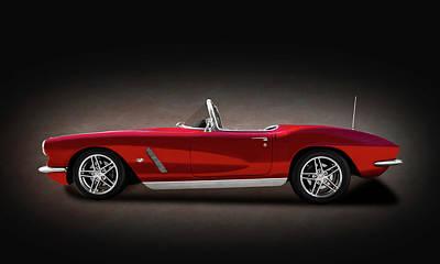 Photograph - 1962 C1 Chevrolet Corvette  -  1962c1vetteconvertibletexturespot149856 by Frank J Benz