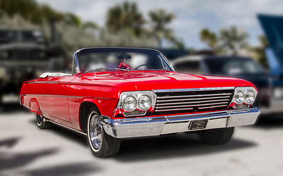 Photograph - 1962 Chevrolet Convertible by Bob Slitzan