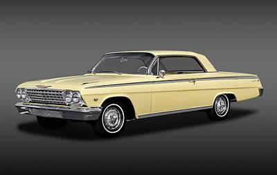 Photograph - 1962 Chevrolet Impala Super Sport 2 Door Hardtop  -  1962chevroletimpalassfa172070 by Frank J Benz