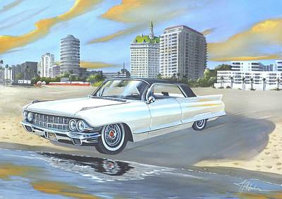 Painting - 1962 Classic Cadillac by James R Hahn
