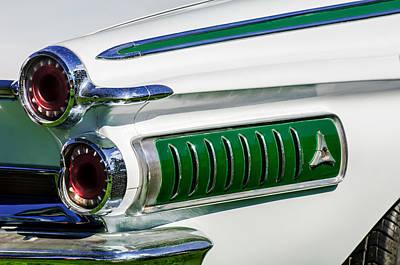 1962 Dodge Polara 500 Tail Light -0054c Art Print