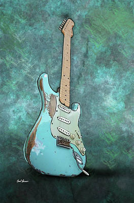 Stratocaster Painting - 1962 Fender Stratocaster by Brad Burns