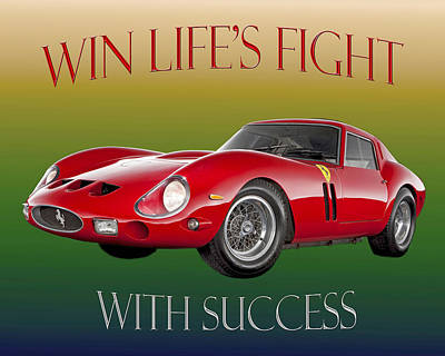 Photograph - 1962 Ferrari 250 G T Motivational Poster by Jack Pumphrey