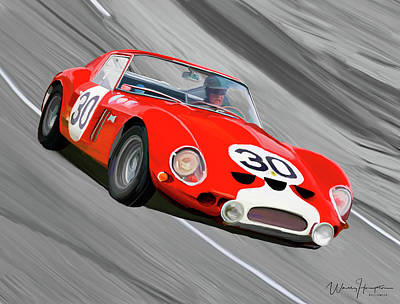 Painting - 1962 Ferrari 250 Gto by Wally Hampton