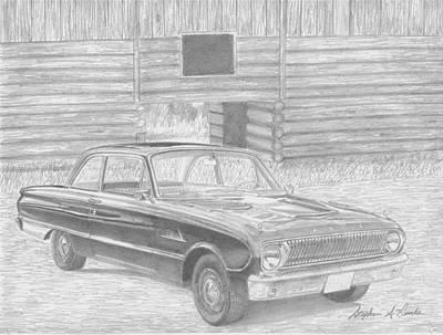 1962 Ford Falcon Classic Car Art Print Print by Stephen Rooks