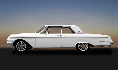 Photograph - 1962 Ford Galaxie 500 2 Door Hardtop  -  1962fordgalaxie500173358 by Frank J Benz