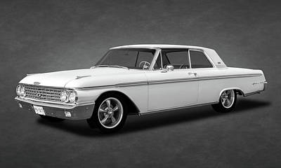 Photograph - 1962 Ford Galaxie 500 2 Door Hardtop  -  1962fordgalaxietexture173354 by Frank J Benz