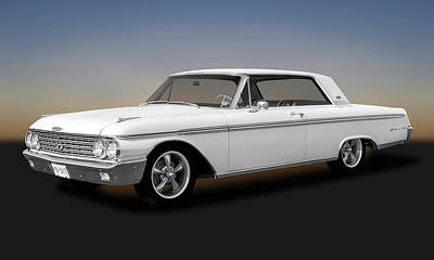 Photograph - 1962 Ford Galaxie 500 2 Door Hardtop  -  62galaxieford173354 by Frank J Benz
