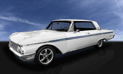 Photograph - 1962 Ford Galaxie 500 2 Door Hardtop by Frank J Benz