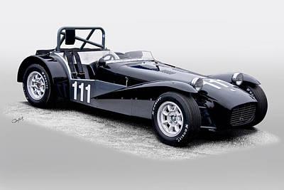 1962 Lotus Super Seven Vintage Racecar Art Print by Dave Koontz