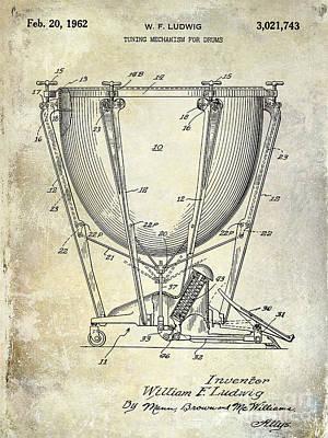 Ludwig Photograph - 1962 Ludwig Drum Patent by Jon Neidert