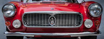 Photograph - 1962 Maserati 3500 Gt Spyder Grille Emblem -0009c by Jill Reger