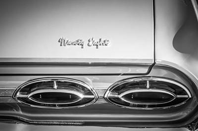Photograph - 1962 Oldsmobile 98 Tail Lights -0128bw by Jill Reger