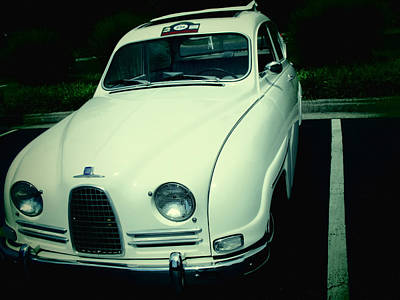 Photograph - 1962 Saab 96 Front View by Tony Grider