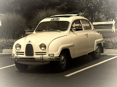 Photograph - 1962 Saab 96 Sepia by Tony Grider