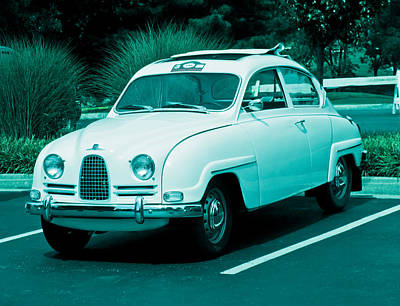 Photograph - 1962 Saab 96 by Tony Grider