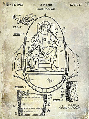 Outer Space Photograph - 1962 Space Suit Patent by Jon Neidert