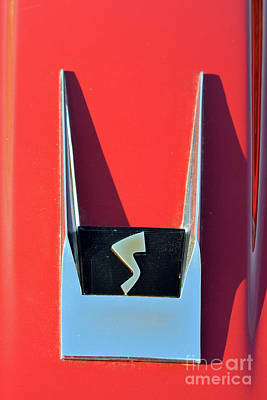 People Photograph - 1962 Studebaker Avanti Badge by George Atsametakis