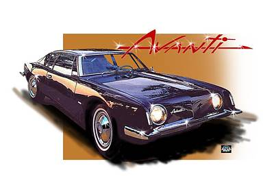 Digital Art - 1963 Avanti by Richard Mordecki