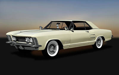Photograph - 1963 Buick Riviera  -  1963buickriviera170799 by Frank J Benz