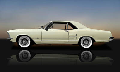 Photograph - 1963 Buick Riviera  -  1963buickrivierareflect170813 by Frank J Benz
