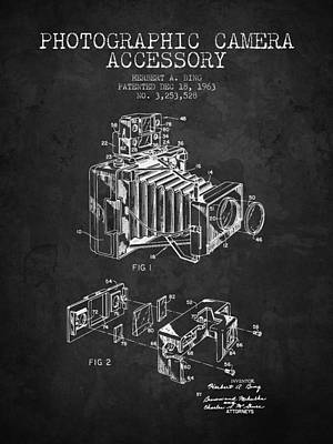1963 Camera Patent - Charcoal - Nb Art Print