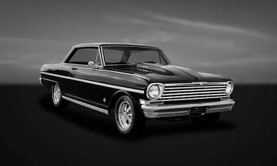 Photograph - 1963 Chevrolet Chevy II Nova Super Sport Coupe  -  63novssbw33 by Frank J Benz