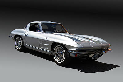 Speeding Chevrolet Photograph - 1963 Chevrolet Corvette Split Window by Nick Gray