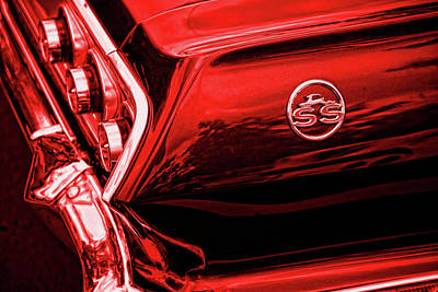 1963 Chevrolet Impala Ss Red Original by Gordon Dean II