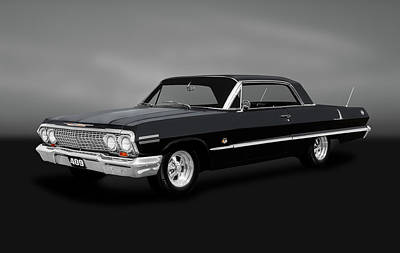 Photograph - 1963 Chevrolet Impala Super Sport  -  1963ss409chevyimpalagry184022 by Frank J Benz