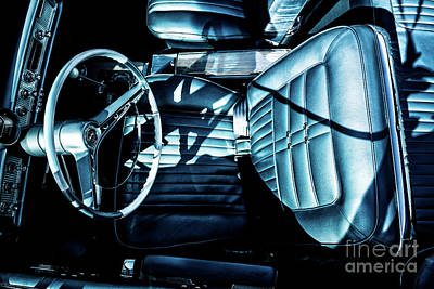Photograph - 1963 Chevrolet Impalla Ss Interior by M G Whittingham