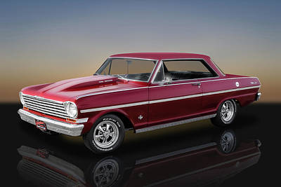 Photograph - 1963 Chevrolet Nova Super Sport   -  63novassreflect142465 by Frank J Benz