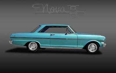 Photograph - 1963 Chevy II Nova Sport Coupe  -  1963chevyiinovalogofa184087 by Frank J Benz