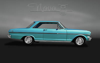 Photograph - 1963 Chevy II Nova Sport Coupe  -  1963chevyiinovalogogry184087 by Frank J Benz