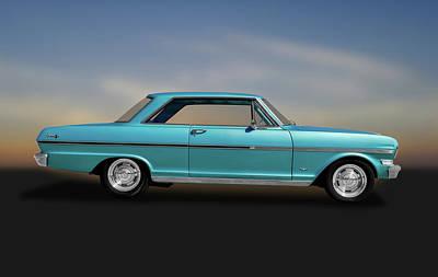 Photograph - 1963 Chevy II Nova Sport Coupe  -  1963chevyiinovasportcoupe184087 by Frank J Benz