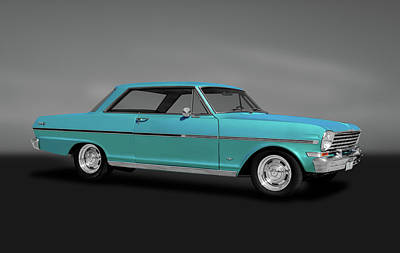 Photograph - 1963 Chevy II Nova Sport Coupe  -  1963chevynovacoupegry184088 by Frank J Benz