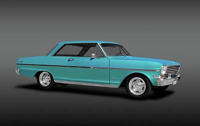 Photograph - 1963 Chevy II Nova Sport Coupe  -  Chevroletnovaiicoupefa184088 by Frank J Benz