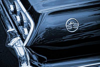 1963 Chevy Impala Blue Art Print