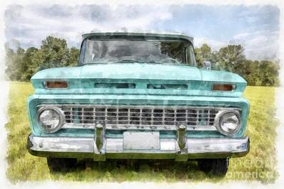 Vintage Chevrolet Truck Photograph - 1963 Chevy Suburban by Edward Fielding