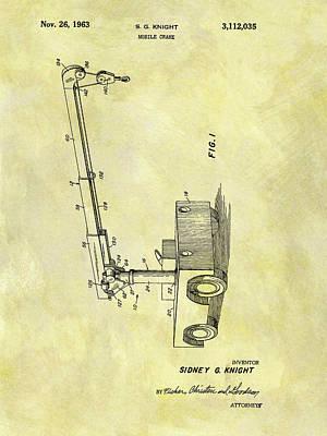 Crane Mixed Media - 1963 Crane Patent by Dan Sproul