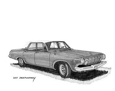 Painting - 1963 Dodge 440 Sedan by Jack Pumphrey