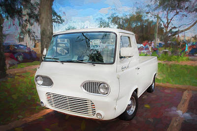 Pickup Truck Door Photograph - 1963 Ford Econoline Truck  by Rich Franco